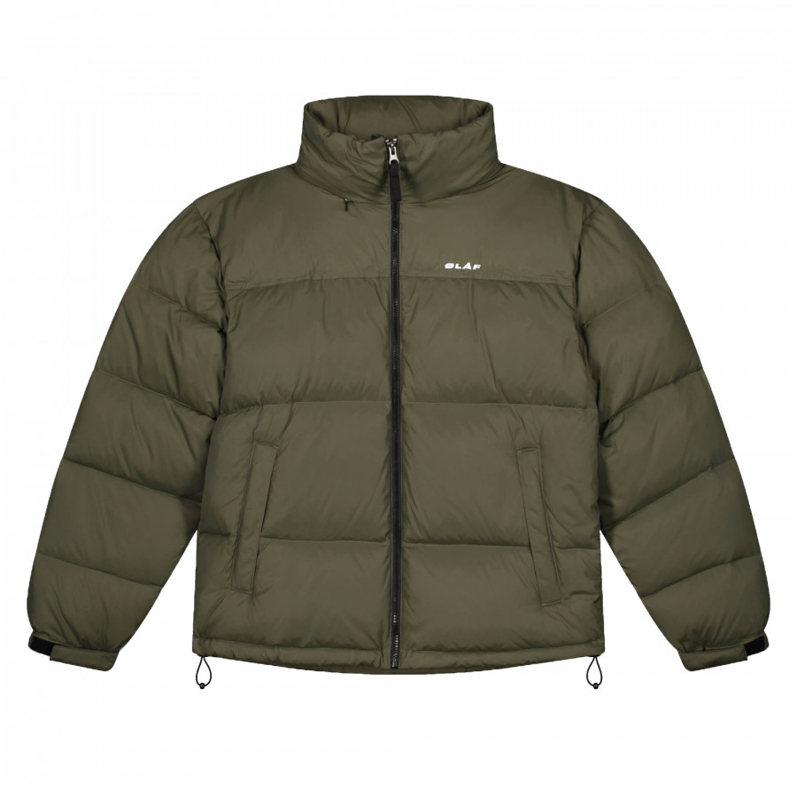 PUFFER JACKET.ARMY GREEN